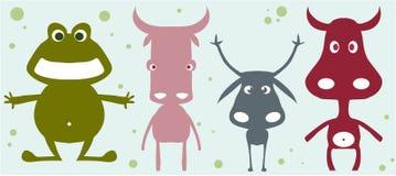 Coleção animal engraçada Foto de Stock