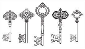 A coleção antiga das CHAVES ajustou 2 ilustração royalty free