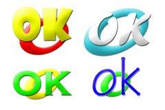 Coleção APROVADA dos logotipos Foto de Stock