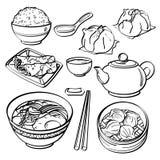 Coleção asiática do alimento Fotografia de Stock Royalty Free