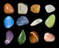 Coleção Assorted Assorted de Gemstones Fotografia de Stock