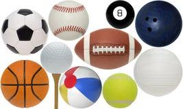 Coleção Assorted da esfera do esporte fotos de stock