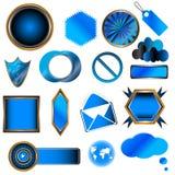 Coleção azul Imagem de Stock