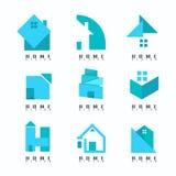 Coleção azul home de Logo Modern creativo Sumário Símbolo VE ilustração royalty free