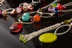 Coleção bonita do jewelery Foto de Stock
