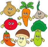 Coleção bonito do vegetal dos desenhos animados Fotos de Stock Royalty Free