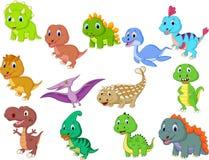 Coleção bonito dos dinossauros do bebê ilustração royalty free
