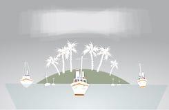 Coleção branca da cidade e da cidade do fundo do porto Imagem de Stock Royalty Free