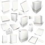 Coleção branca da tampa 3d em branco Imagens de Stock