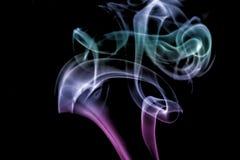 Coleção branca do fumo Fotos de Stock Royalty Free