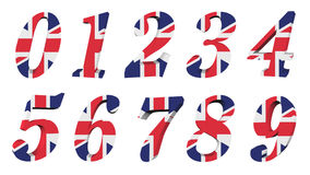 coleção BRITÂNICA da bandeira 3d - número ilustração royalty free