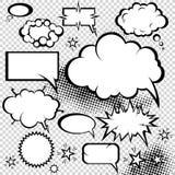 Coleção cómica das bolhas Imagem de Stock