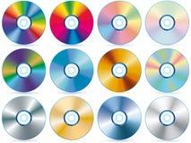 Coleção CD Imagens de Stock