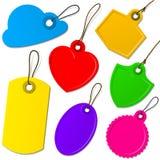 Coleção colorida da etiqueta Imagens de Stock Royalty Free
