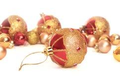 Coleção colorida de esferas do Natal Imagem de Stock