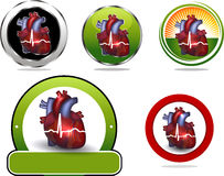 Coleção colorida do ícone do coração Fotos de Stock Royalty Free