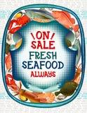 Coleção colorida do marisco Imagens de Stock Royalty Free