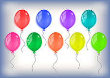 Coleção colorida dos balões Fotos de Stock Royalty Free
