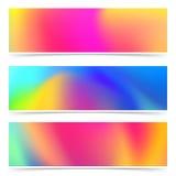 Coleção colorida dos cartões do holi brilhante abstrato ilustração stock
