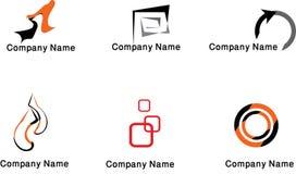 Coleção colorida dos logotipos Foto de Stock