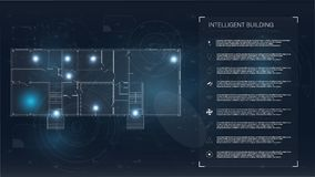 Coleção com casa inteligente Conceito do jogo ilustração do vetor