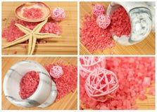 Coleção cor-de-rosa dos termas Imagens de Stock Royalty Free