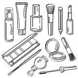 Coleção cosmética dos produtos ilustração do vetor
