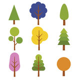 Coleção da árvore Imagem de Stock Royalty Free