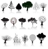 Coleção da árvore Imagem de Stock