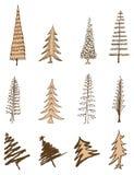 Coleção da árvore de Natal Imagens de Stock