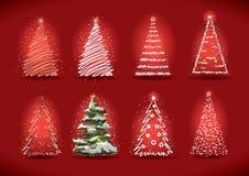 Coleção da árvore de Natal. Imagens de Stock
