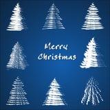 Coleção da árvore de Natal. Fotos de Stock Royalty Free