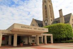 Coleção da arquitetura histórica vista na propriedade que abriga Art Gallery memorável, Rochester, New York, 2017 Fotos de Stock Royalty Free