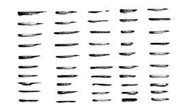 A coleção da arte escova o artigo 50 ajustado da arte de papel áspera dow ilustração do vetor