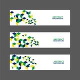 Coleção da bandeira abstrata com cor da bandeira de Brasil Imagem de Stock