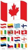 Coleção da bandeira do vetor Imagem de Stock