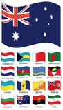 Coleção da bandeira do vetor Foto de Stock