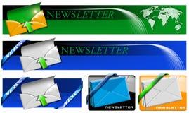 Coleção da bandeira do Web do boletim de notícias Imagens de Stock
