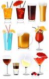 Coleção da bebida Imagem de Stock