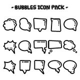 Coleção da bolha do discurso ilustração stock