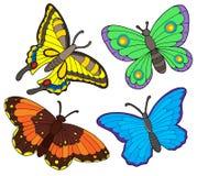 Coleção da borboleta Foto de Stock Royalty Free