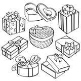 Coleção da caixa de presente ilustração royalty free