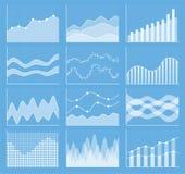 Coleção da carta de negócio Grupo de gráficos Visualização dos dados Fotos de Stock