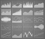 Coleção da carta de negócio Grupo de gráficos Visualização dos dados Imagem de Stock