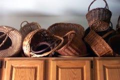 Coleção da cesta Fotografia de Stock