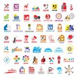 Coleção da construção e do reparo dos logotipos do vetor Imagem de Stock