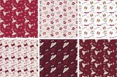 Coleção da cor de Borgonha para o papel Foto de Stock Royalty Free