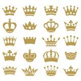 Coleção da coroa - silhueta do vetor Imagens de Stock Royalty Free