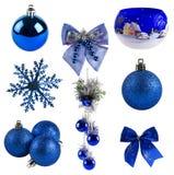 Coleção da decoração do Natal Foto de Stock