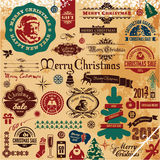 Coleção da decoração do Natal ilustração do vetor